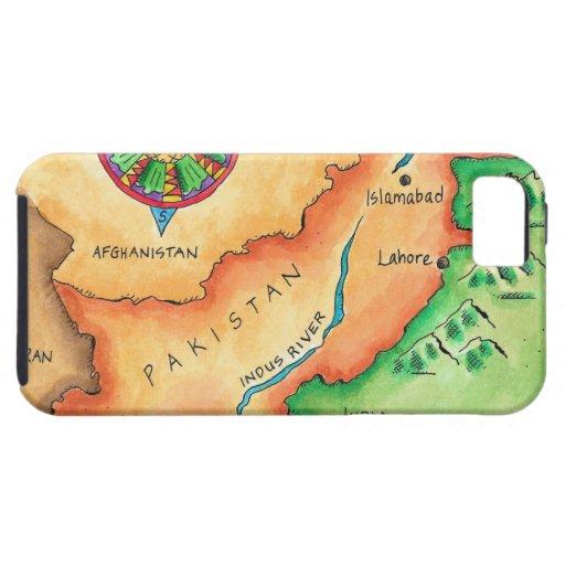 Mapa de Paquistán iPhone 5 Carcasa