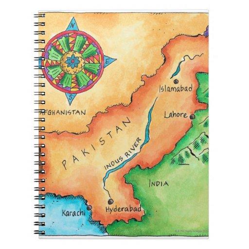 Mapa de Paquistán Libros De Apuntes