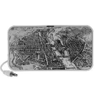 Mapa de París, 1620 Altavoz De Viajar