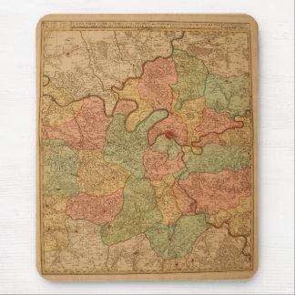 Mapa de París Alfombrilla De Ratón