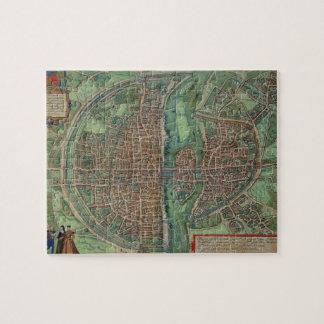 """Mapa de París, de """"Civitates Orbis Terrarum"""" por G Rompecabeza Con Fotos"""