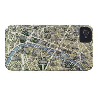Mapa de París durante el período de los Grands Case-Mate iPhone 4 Coberturas