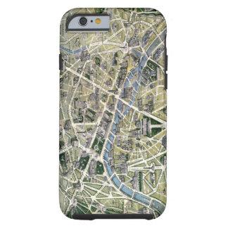 Mapa de París durante el período de los Grands Funda De iPhone 6 Tough