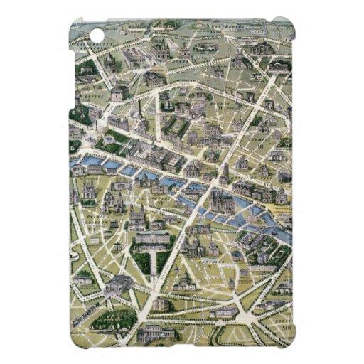 Mapa de París durante el período de los Grands iPad Mini Protectores