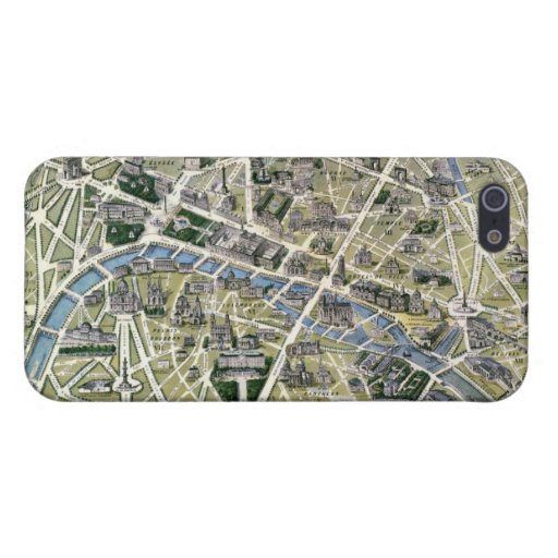 Mapa de París durante el período de los Grands iPhone 5 Protector