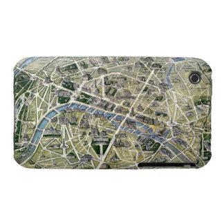 Mapa de París durante el período de los Grands iPhone 3 Case-Mate Protectores