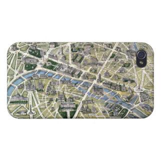 Mapa de París durante el período de los Grands iPhone 4/4S Carcasa