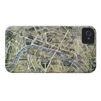 Mapa de París durante el período de los Grands iPhone 4 Case-Mate Cobertura