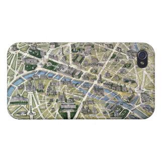 Mapa de París durante el período de los Grands iPhone 4 Fundas