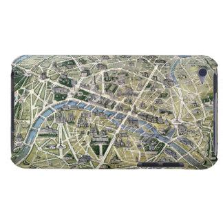 Mapa de París durante el período de los Grands iPod Case-Mate Funda