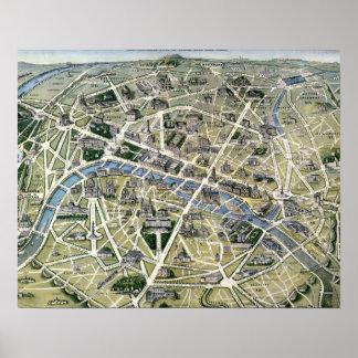 Mapa de París durante el período de los Grands Posters