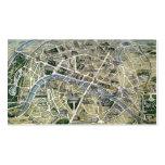 Mapa de París durante el período de los Grands Tarjeta De Negocio