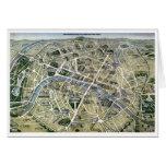 Mapa de París durante el período de los Grands Tarjeta De Felicitación