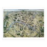Mapa de París durante el período de los Grands Tarjetas Postales