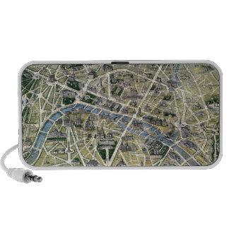 Mapa de París durante los 'Grands Travaux Altavoz