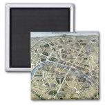 Mapa de París durante los 'Grands Travaux Iman Para Frigorífico