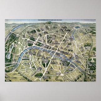 Mapa de París durante los 'Grands Travaux Posters