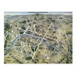 Mapa de París durante los 'Grands Travaux Postal