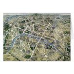 Mapa de París durante los 'Grands Travaux Tarjeta De Felicitación