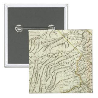 Mapa de Pennsylvania 2 Pin Cuadrada 5 Cm
