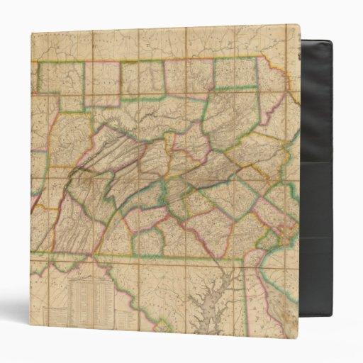 """Mapa de Pennsylvania Carpeta 1 1/2"""""""