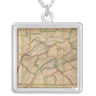 Mapa de Pennsylvania Colgante Cuadrado