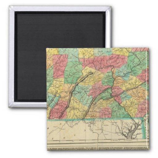 Mapa de Pennsylvania Imán Cuadrado