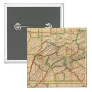 Mapa de Pennsylvania Pin Cuadrada 5 Cm
