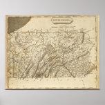Mapa de Pennsylvania por Arrowsmith Póster