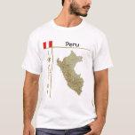 Mapa de Perú + Bandera + Camiseta del título