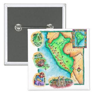 Mapa de Perú Pin Cuadrado