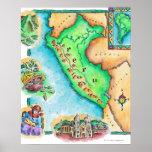 Mapa de Perú Póster