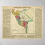 Mapa de Perú Poster