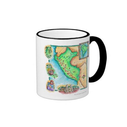 Mapa de Perú Tazas De Café