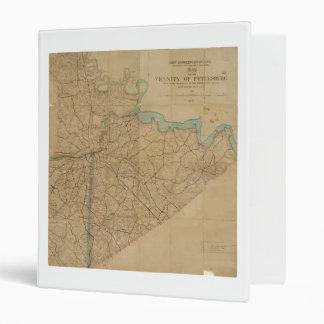 "Mapa de Petersburgo Virginia (1864) Carpeta 1"""
