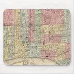 Mapa de Philadelphia de Mitchell Tapetes De Ratones
