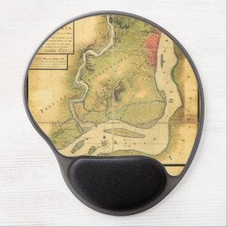 Mapa de Philadelphia en 1777 Alfombrillas De Ratón Con Gel