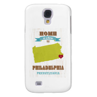 Mapa de Philadelphia, Pennsylvania - casero está d Funda Samsung S4