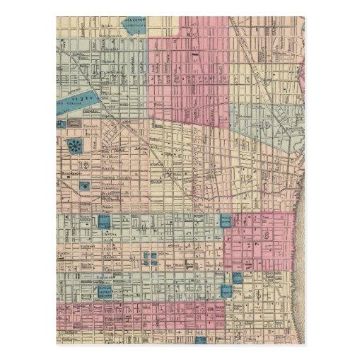 Mapa de Philadelphia, Pennsylvania Postal