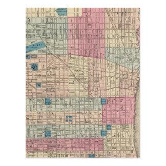 Mapa de Philadelphia, Pennsylvania Tarjetas Postales