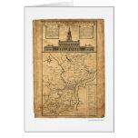 Mapa de Philadelphia y de las partes 1752 Tarjeta De Felicitación