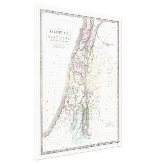 Mapa de Philip de las 12 tribus - con fecha de 185 Impresiones De Lienzo