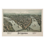 Mapa de Pittsburgh (cazador de aves) - 1902, BigMa Impresiones