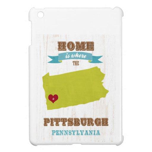 Mapa de Pittsburgh, Pennsylvania - casero es donde