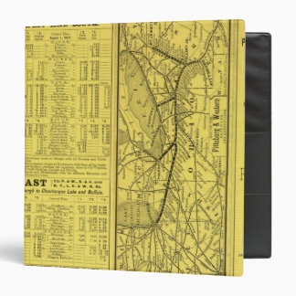 "Mapa de Pittsburgh y del ferrocarril occidental Carpeta 1 1/2"""
