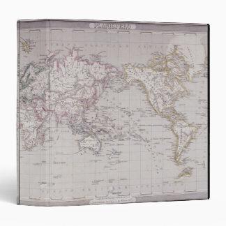 """Mapa de Planispheric del mundo Carpeta 1 1/2"""""""