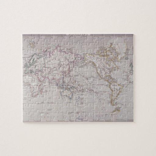 Mapa de Planispheric del mundo Puzzle