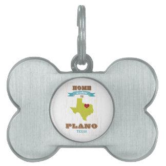 Mapa de Plano, Tejas - casero es donde está el cor Placa Mascota