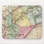 Mapa de Pocohontas, condados de Greenbrier Tapete De Ratones
