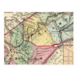 Mapa de Pocohontas, condados de Greenbrier Tarjeta Postal